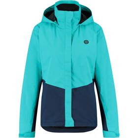 AGU Essential Section Rain Jacket Women, Turquesa/azul